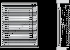 Внутри оконного проёма (пластины 16, 25 мм)