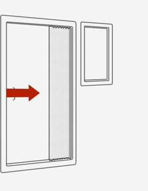 Сетки-плиссе на двери