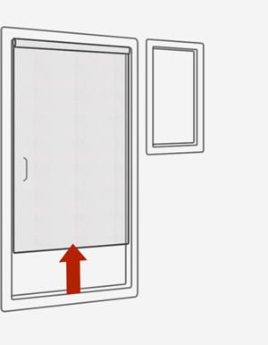 Рулонные сетки на двери